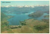 1960's-1980's AERIAL VIEW of LAKE WANAKA NEW ZEALAND POSTCARD - NEW - SNOWY MTS