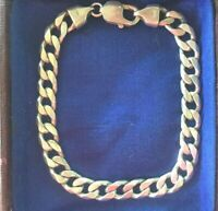 RETRO VINTAGE JEWELLERY STERLING SILVER CHAIN UNISEX JEWELRY BRACELET 22 cm