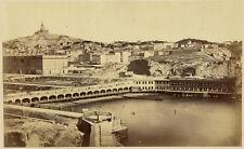 Photo Albuminé Marseille Construction Vers 1865/75