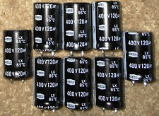 8 NOS Teapo 120uf @ 400V LX Aluminum Electrolytic Capacitors Snap-In