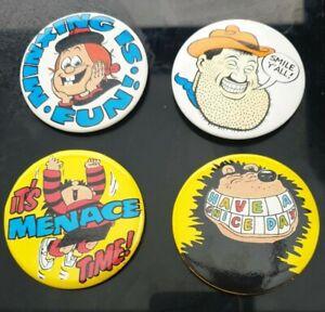 4 Vintage Beano Badges