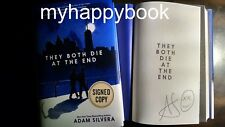 SIGNED They Both Die at the End by Adam Silvera, Hardcover, new, autographed