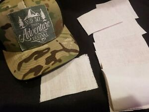 SET OF 10! Blank Raggy Rectangle Sublimation Hat Patch Blanks Free Shipping Usa