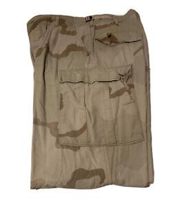 Used USGI Military Issue 3 Color Desert Camo BDU DCU Trousers Pants Medium XLong
