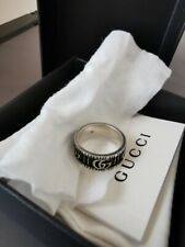 Gucci Double G Ring In Silver Size 18 (US 8 1/4)