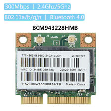 BCM943228HMB 300Mps 2.4/5GHz Bluetooth 4.0 Mini PCI-E Wifi Card for Laptop
