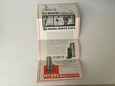 1938 brochure F.E. Myers Water system and Air Conditioning