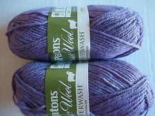 Patons Classic DK Superwash 100% wool yarn, Wisteria, lot of 2 (125 yds ea)