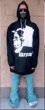"Akrynm Tall ""Dead"" Hoodie XLT - Black Ski / Snowboard Hoodie"