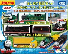 Tomy Trackmaster Thomas & Friends Motorized LBSC & Black James Motorized Train