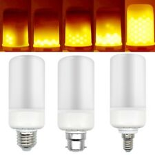 B22 E27 E14 LED Burning Light Flicker Flame Lamp Bulb Fire Effect Decorative
