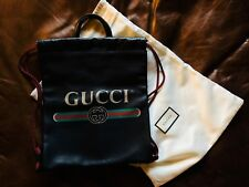 2018 Gucci Print leather Drawstring Backpack New $1980 current retail