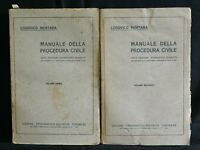 MANUALE DELLA PROCEDURA CIVILE. Vol. 1-2. Mortara. Unione Tipografica Torinese.