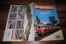 PRIMEX HAUPTKATALOG 1987 -- MODELL-EISENBAHN SPUR HO-System