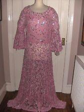 Dame Barbara Cartland Celebridad Vestido Vestido Vintage ex Sothebys desgastado famosa