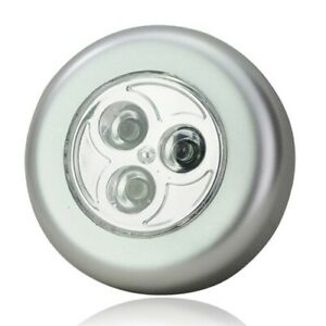 3 LED Touch Push On Off Light Self-Stick On Click Battery Operated Lights