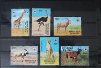Niger 633-638 ** postfrisch Tiere #WC936
