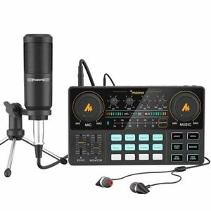 Maonocaster AU-AM200SI All-In-One Podcast Production Studio with Condenser Mic