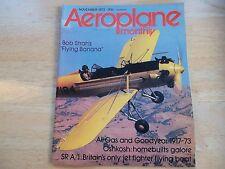 AEROPLANE MONTHLY EARLY ISSUE NOV '73 BOB STRAH FLYING BANANA OSHKOSH FLYINGBOAT