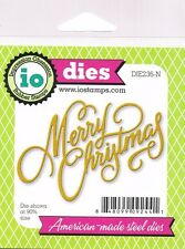 Impression Obsession Thin Metal Die Set - MERRY CHRISTMAS - Cardmaking