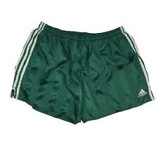 Vintage Adidas Green Nylon Athletic Soccer Lined Shorts Large EUC
