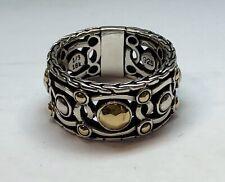 John Hardy Ring 18k Gold & Sterling Silver 925 - Size 7