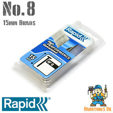 Rapid No.8 15mm Brads for Carpentry (1000) - Fits Maestri ME53 & Rapid BTX530