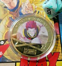 HUNTER X HUNTER ANIME GOLD METAL COIN CARD WHM CARTE MEDAL PIECE #5 NEUF MINT