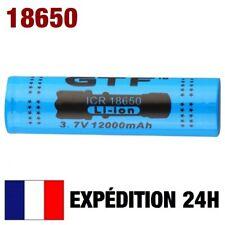18650 / PILE BATTERIE RECHARGEABLE 12000 mAh LI-ION 3,7 V POUR LAMPE TORCHE...
