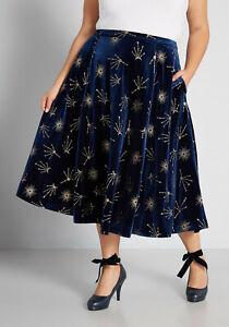 Collectif Lydia Dip Hem Halo Star Skirt Modcloth Extra-Celestial Skirt US22/4X