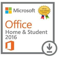 Microsoft Office 2016 Home & Student PC Windows 32/64 BIT -ESD- Worldwide