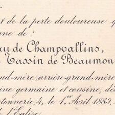 Marie Emilie Tassin De Beaumont Du Gaigneau De Champvallins 1889
