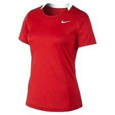 Nike Youth Respect Short Sleeve Lacrosse Field Jersey Shirt Red Small 519546