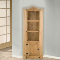 Corona Corner Display Unit - Mexican Solid Pine, Rustic, Distressed