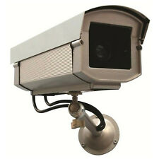 Dummy Security Camera - Dummy CCTV Large Metal Outdoor Housing -  LED Light