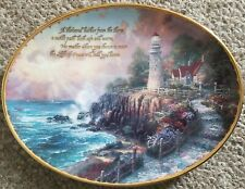 New listing Thomas Kinkade Oval Plate 1997 The Light Of Peace First Issue