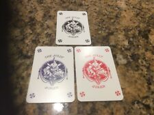 Set of 3 x New Jolly Jester Playing Cards Red Blue and Black English Bridge Club