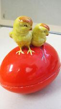 Altes Porzellanei mit Küken Deckeldose Dose EI Osterei porcelain egg