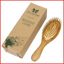 Neverland Beauty 100% Natural Bamboo Hair Brush Detangling Massage Anti-Static