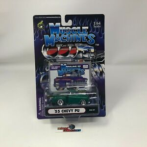 #7103  '55 Chevy PU * Muscle Machines 1:64 Die Cast  * HH2