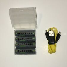 Blackube, Power Cube Rechargeable Li-ion AA Batteries, 1.5V 1700mAh 2550mWh USB