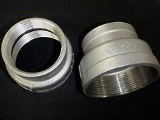 """STAINLESS STEEL REDUCER COUPLING  2 1/2"""" x 2"""" BSPT  PIPE RC-250-200-BSP"""