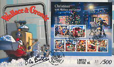"2010 Xmas (M/S) - Steven Scott ""Wallace & Gromit"" Official - Signed BOB BAKER"