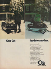 One Cat leads to another Caterpillar Snowmobile ad 1973 FJ