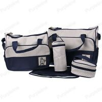 Multi Function Baby Diaper Nappy Changing Bag Mummy Tote Shoulder Handbag Navy