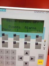 Siemens OP7  DP Simatic Operator panel 6AV3 607-1JC20-0AX1   Op 7 Siemens