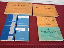 VINTAGE MERCEDES MANUAL LOT 60 63 66 TECHNICAL 67 190 250SL GLOVE BOX 65 300SEB