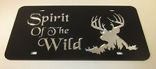 Spirit of the Wild Deerhead Design mirror license plate laser cut acrylic buck