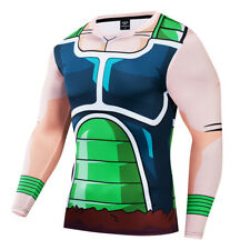 Men Dragon Ball Bardock 3D Printed Cosplay Compression Workout Fitness T-shirt