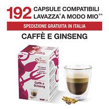 192 Capsule Caffè al Ginseng Dolce Italian Coffee compatibili Lavazza A Modo Mio